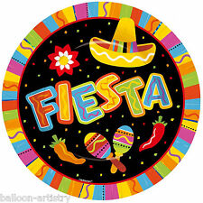 8 Wild West Mexican Fiesta Fun Summer Party Large 27cm Paper Dinner Plates