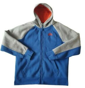 Boys Nike Tracksuit Top Size 12-13 Blue Orange Grey