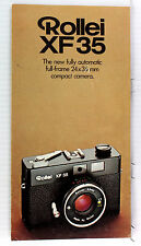Rolleiflex Original Sales Brochure for Rollei XF35 - 6 pages, Jan. 1975
