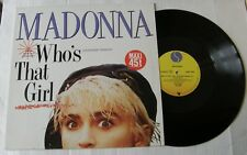 "MADONNA  (Maxi 45T 12"") WHO'S THAT GIRL (EXTENDED VERSION)"