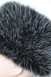 NEW Pemium Faux Fur Hat  NEW YORK BLACK Stylish White Snow Sprinkled Black Hat
