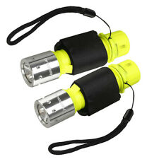 2PCS Diving Underwater  Flashlight 50M Waterproof Lamp T6 LED Scuba Torch Light