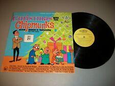 Christmas with The Chipmunks LP Mistletoe MLP-1216 Alvin Simon Theodore Dave