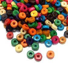 40 Holzperlen neon bunt 8mm Perlen 10516