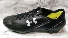 Ua SpeedForm Crm Leather Fg Cleats, Size 8, Black/Graphite