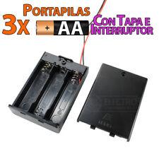 PORTAPILAS 3x AA con tapa R6 4,5v cable alimentacion PCB battery holder
