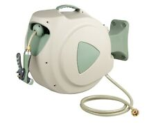 30 Metre Retractable Hose Reel with 12mm Hose + Brass Fittings