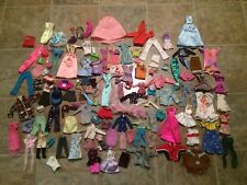 Lot Of 100+ Barbie And Friends Mattel Clothing Dresses Pants Shirts Accessories