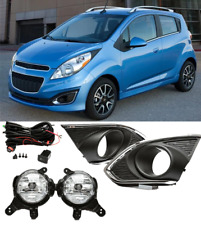 Fit For Chevrolet Spark 2013-2015 Front fog lamp Kit w/Bulb Switch Cable Bezel