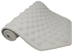 White Large Non Slip Bath Mat 1040mm x W 400mm (41 x 15.7 inches).