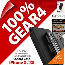 Gear4 Oxford D3O Impact Protection Étui à Rabat Support Pour Apple IPHONE X / XS