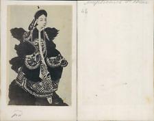 Impératrice de Chine CDV vintage albumen carte de visite. d'après un de