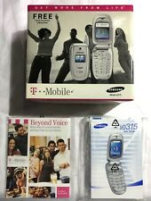 Samsung E315 T-Mobile Cell Phone Manual And Original Box