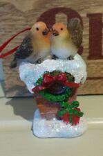 VINTAGE CHRISTMAS DECORATION ROBIN ENGLISH CHIMNEY TOP ORNAMENT CHRISTMAS TREE