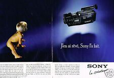 Publicité advertising 1989 (2 pages) Le Camescope camera Handycam Sony