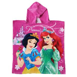 Princess Poncho Girls Disney Princess Poncho Towel Pink 100% Cotton
