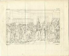 Stampa antica NAPOLEONE ad ALESSANDRIA d' EGITTO 1808 Old antique print