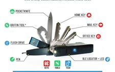 Keyport Pivot Nero-funziona con Trackr | USB Flash Drive -8 G | Moca Multi-Tools | Kit