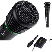 Wired & Wireless 2 in1 Handheld Microphone Mic Receiver System Undirectional US