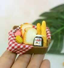 Doll House Accessories 1:12th Miniature 1 Basket with everything inside.