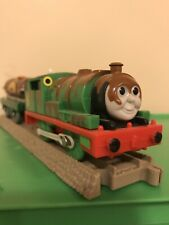 THOMAS Train Trackmaster Motorized Chocolate Covered Percy & Syrup Tanker