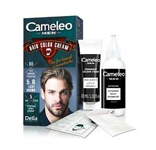 DELIA CAMELEO MEN HAIR Colour Cream Beard Cover Grey Hair Treatment Light Brown