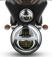 "7 INCH CHROME PROJECTOR DAYMAKER LED LIGHT BULB HEADLIGHT for Harley 7"" EYEBALL"