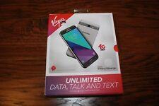 "New Silver Virgin Mobile Samsung Galaxy J3 Emerge SM-J327 4G LTE 5""  Screen 16GB"