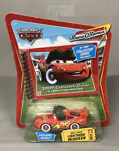Disney Cars RaceORama Night Vision Lightning McQueen w/2009 Collector Guide #D25