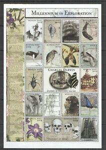 G0873 MONGOLIA MILLENNIUM OF EXPLORATION CHARLES DARWIN 1809-1882 SH MNH