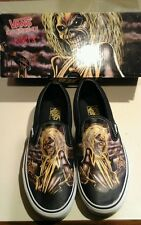 2007 Iron Maiden Killers Vans slip ons US size men 8.5 women 10, NIB