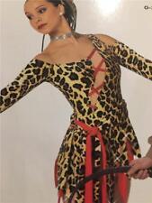 DANCE COSTUME JUNGLE ANIMAL PRINT JAZZ LYRICAL TAP TRIBAL DANCE