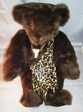 "WILD 4 YOU Authentic Vermont Jointed Teddy Bear Chocolate Dark Brown 16"" + Acc"