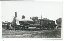 LONDON, MIDLAND SCOTTISH RAILWAY - LMS LOCO no.14277 on TURNTABLE R.P. Postcard