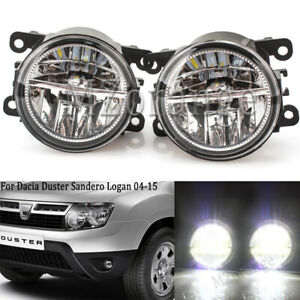 2PC LED Front Bumper Fog Light DRL Lamp For Dacia Duster Sandero Logan 2004-2015