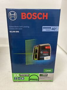 BOSCH GLL40-20G 40' Self Leveling Cross Line Laser VisiMax Green Beam *NEW*