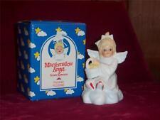 Marshamallow Angel by Roman Angel on Cloud with Basket Porcelain Figurine New
