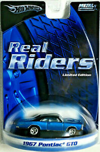 Hot Wheels 2005 Limited Edition Real Riders Series 1967 PONTIAC GTO w/RRs
