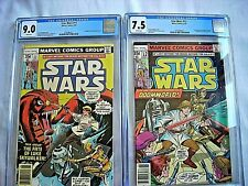 Marvel STAR WARS #11 CGC 9.0 VF/NM & #12 CGC 7.5 FN- White Pages 1978