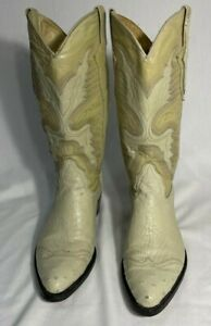 Cazador Mexico Ostrich and Leather Western Boots - Mens