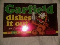 """Garfield: """"Dishes it Out"""" Signed by Jim Davis Autographed Collectors Special"""