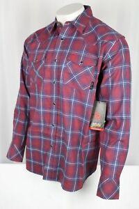 Ariat FR Colquitt Retro Fit Snap Work Shirt Long Sleeve Tibetan Red # 10033198