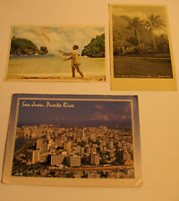Three Caribbean Postcards 1940's and 1970's era