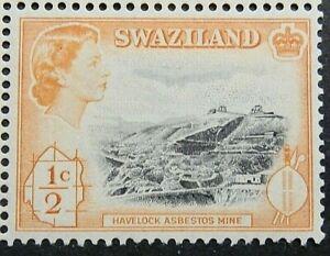 SWAZILAND 1961 SG78 ½c. HAVELOCK ASBESTOS MINE  -  MNH