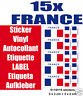 15 Flag Sticker Vinyl Etiquette LABEL Etiqueta Aufkleber FRANCE