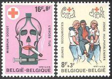 Belgium 1978 Red Cross Fund/Health/Medical/Skull/Drugs/Cigarette 2v set (n32565)
