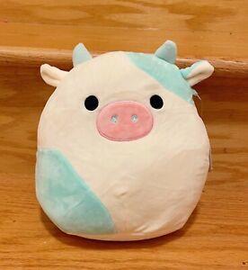 """Squishmallows Kellytoy 2021 Springtime Easter 8"""" Belana the Cow Plush Doll Toy"""