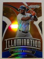 Yordan Alvarez 2020 Panini Prizm Baseball Illumination Red White & Blue Prizm