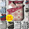 Duvet Cover Bedding Set & Pillowcase King Size Stylish Quilt Cover Fitted Sheet