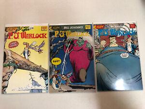 P.J. Warlock (1986) #1 2 3 1-3 VF/NM Complete Set Bill Schorr story/art Eclipse